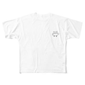 顔にでやすい!メン鳥 Full graphic T-shirts