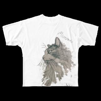 ねこぜや のMissyeru Full graphic T-shirts
