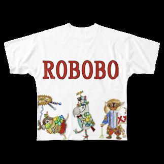 ねこぜや のROBOBO ロボトリオ🤖 Full graphic T-shirts