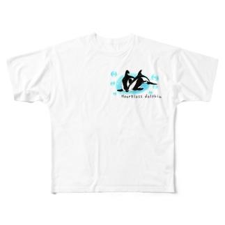 ダンダラカマイルカ Full graphic T-shirts