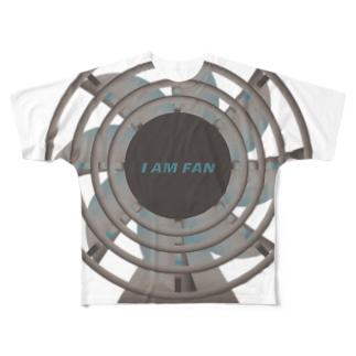 古びた扇風機Bigblue Full graphic T-shirts