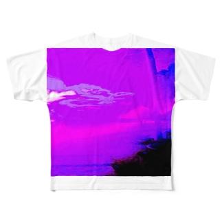 今日の気配は、朝もやの中に。 Full graphic T-shirts