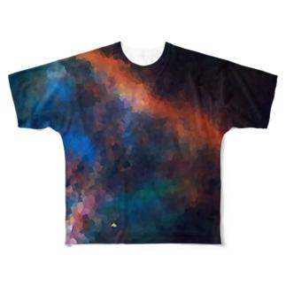 """MEMORIES:2|夜空に瞬く,虹の彼方へ"" Full graphic T-shirts"