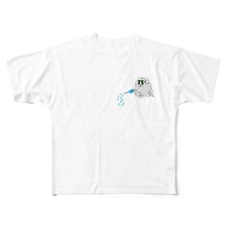 雨降り雲の助 Full graphic T-shirts
