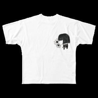 イバショ。の首の純情 Full graphic T-shirts