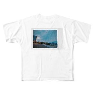 夕方の汐入 Full graphic T-shirts