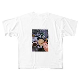 夜中のラーメン Full graphic T-shirts
