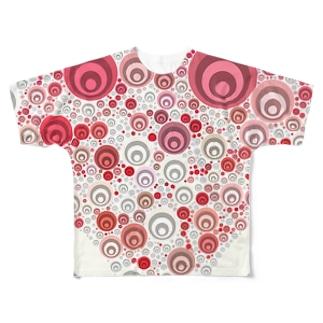 穴凹 Full graphic T-shirts