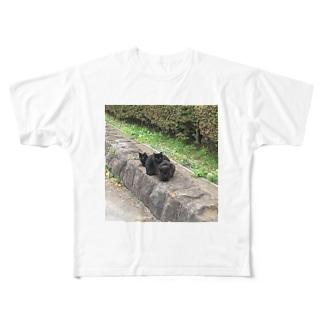 黒猫のタンゴ Full graphic T-shirts