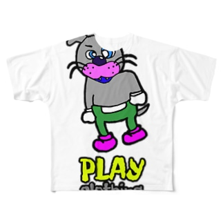 PLAY   DOGGY! Full graphic T-shirts