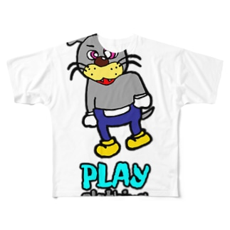 PLAY DOGGY!B Full graphic T-shirts
