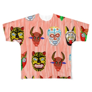 MEXICAN MASKS Full graphic T-shirts