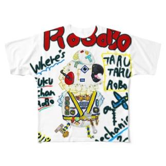 ROBOBO🤖 「たるたるロボ」 Full graphic T-shirts