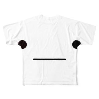 なにも考えない Full graphic T-shirts