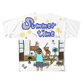 uwotomoのsummer time Full graphic T-shirts