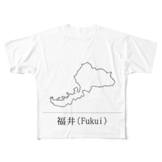 まるの福井県 Full graphic T-shirts