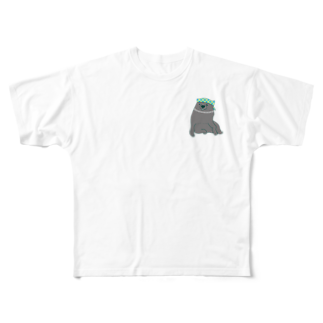 mugioのあの犬/夏だもの Full graphic T-shirts