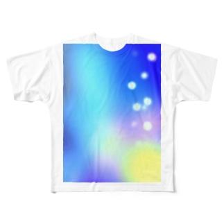幻想的な空 Full graphic T-shirts