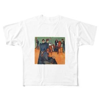 ムンク / 病室での死 / Death in the sickroom / Edvard Munch/1893 Full graphic T-shirts