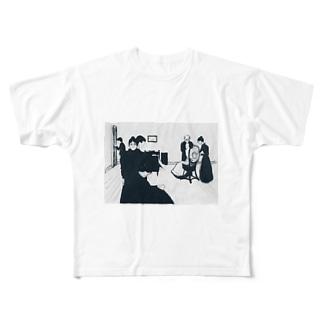 ムンク / The Death Chamber / Edvard Munch / 1896 Full graphic T-shirts