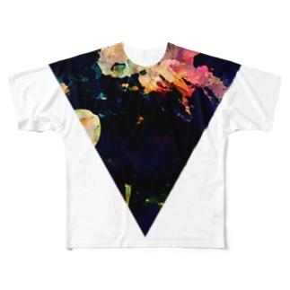 ▼5【逆三角形の穴】 Full graphic T-shirts