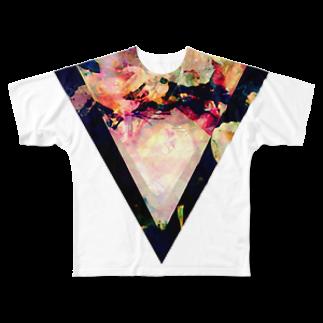 【三角形の穴】の▼5-2【逆三角形の穴】 Full graphic T-shirts