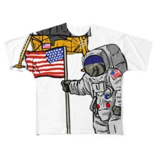 ASTRONAUT&MELLO Full graphic T-shirts