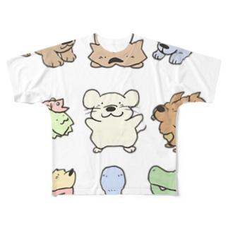 どうぶつたち第一弾 Full graphic T-shirts
