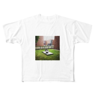 美術館の傘 Full graphic T-shirts