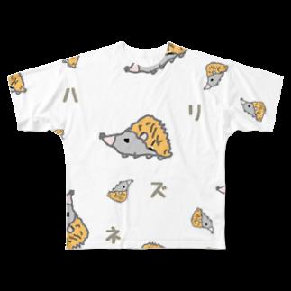 tasukuroのハリネズミくん Full graphic T-shirts