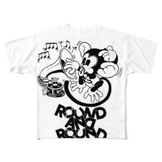 Booty the baby baboonのROUND AND ROUND BOOTY Full graphic T-shirts
