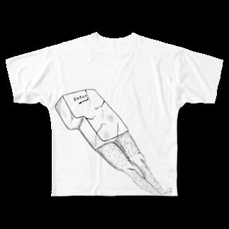ジャックワンのエンターキー Full graphic T-shirts