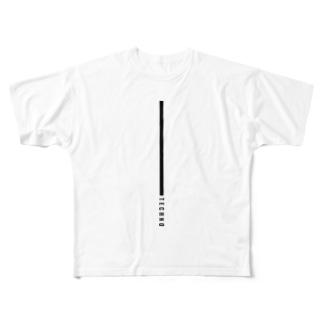 TECHNO Full graphic T-shirts