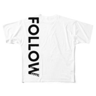 No Asejimi - FMH 白T side Full graphic T-shirts