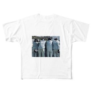 農芸女子の背中 Full graphic T-shirts