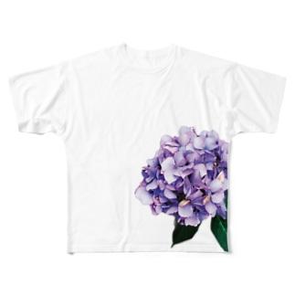 Hydrangea 02 Full graphic T-shirts