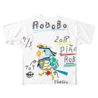 ROBOBO「ぴにゃロボ」 Full graphic T-shirts