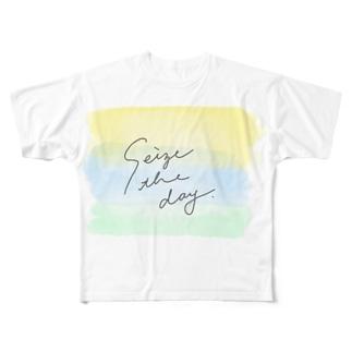 今を生きよ。 Full graphic T-shirts