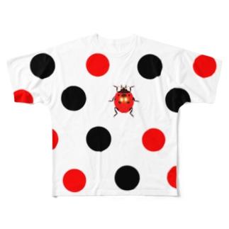 雲隠れテントウ Full graphic T-shirts