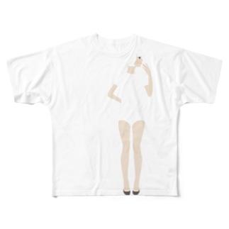 【濃色推奨】ブルマ女子 Full graphic T-shirts