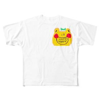 オリジナルカエルちゃんグッズ Full graphic T-shirts
