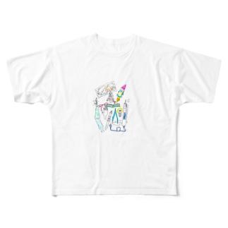 眼鏡っ娘宇宙旅行 Full graphic T-shirts