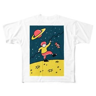うちゅう Full graphic T-shirts