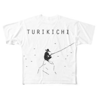 釣り人専用デザイングッズ「ツリキチ」 Full graphic T-shirts