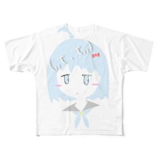 (,,τ . τ,,)Nanami Sorako Full graphic T-shirts
