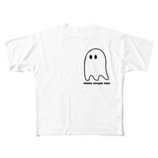 OBAKE BEHIND YOU Full graphic T-shirts