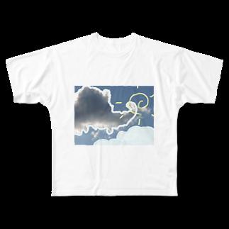 木口さんの晴れ曇り晴れ Full graphic T-shirts