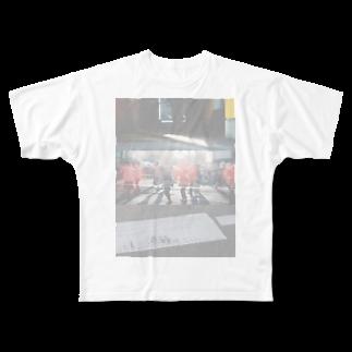 木口さんの夕陽と夏祭り Full graphic T-shirts