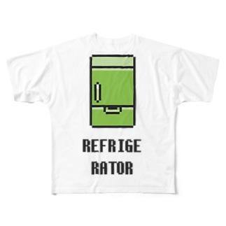 冷蔵庫 Full graphic T-shirts