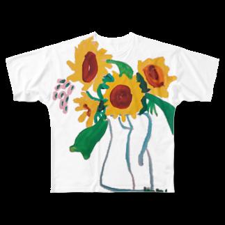 ✈オノウエ コウキのひまわり Full graphic T-shirts